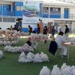 Nuestros colegios se han organizado para entregar canastas solidarias , frente a tanta necesidad.